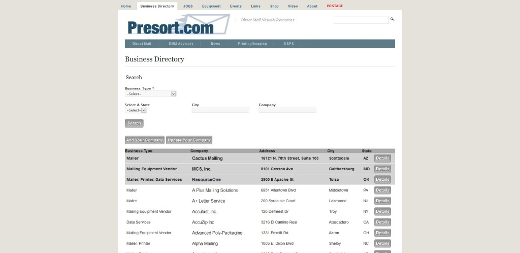 presortbuisnessdirectory