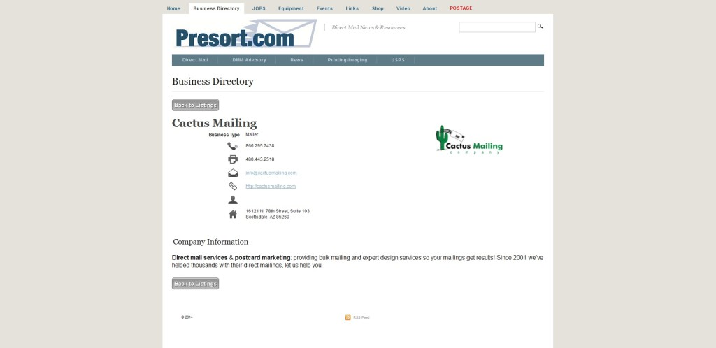 presortbuisnessdirectorylisting